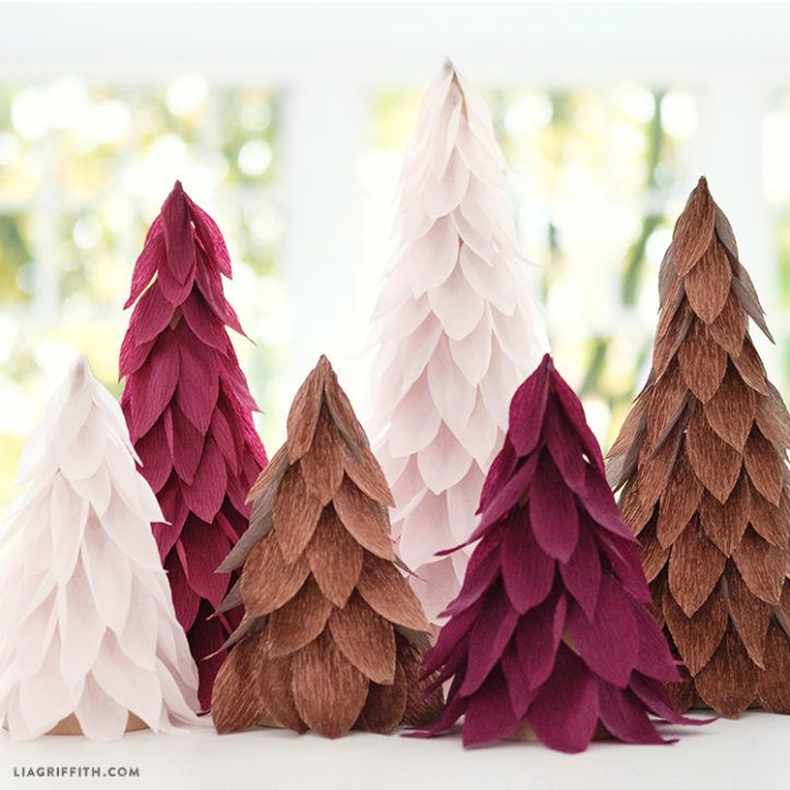 Newspaper Christmas Tree: Extra Fine Crepe Paper Christmas Tree Decorations