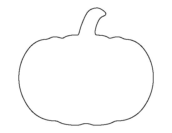 Pumpkin pattern. Use the printable outline for crafts, creating stencils, scrapbooking, and more. Free PDF template to download and print at http://patternuniverse.com/download/pumpkin-pattern/