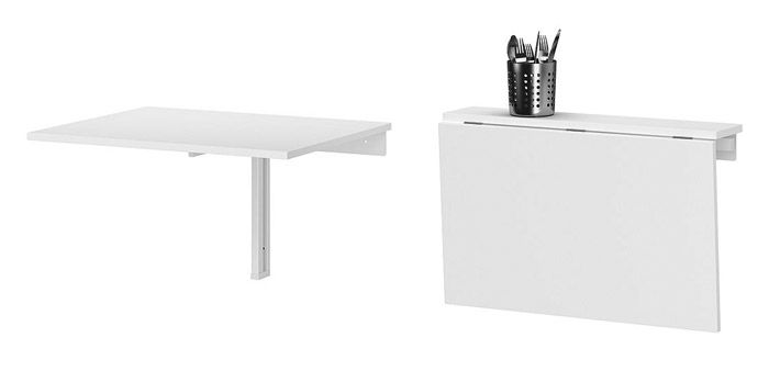 17 best images about folding tables on pinterest standing desks tables and my like - Wall mounted kitchen table ikea ...