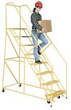 Series 1700 Safety Ladders 50 degree climbing angle permits forward descent to compl with ANSI standards 3 to 15 step standing heights up to...