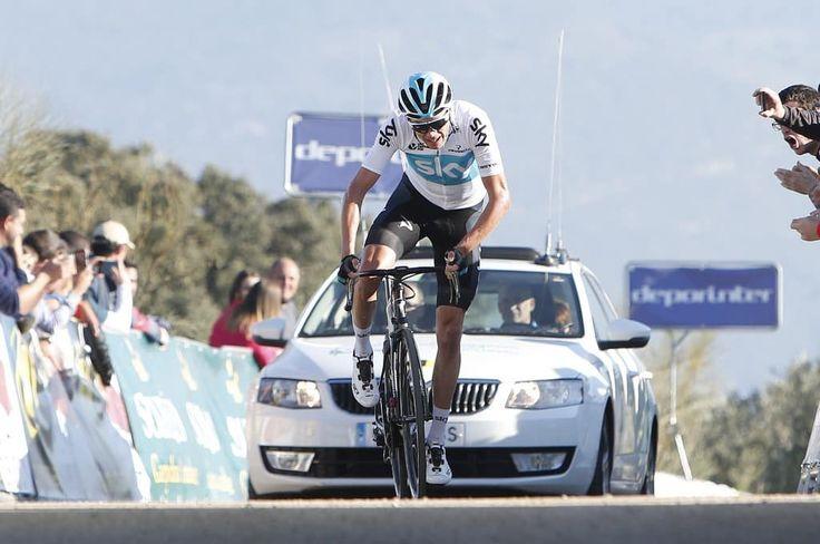 Chris Froome (Sky) sur Tirreno-Adriatico, sa deuxième course de la saison  https://todaycycling.com/tirreno-adriatico-2018-sky-froome/