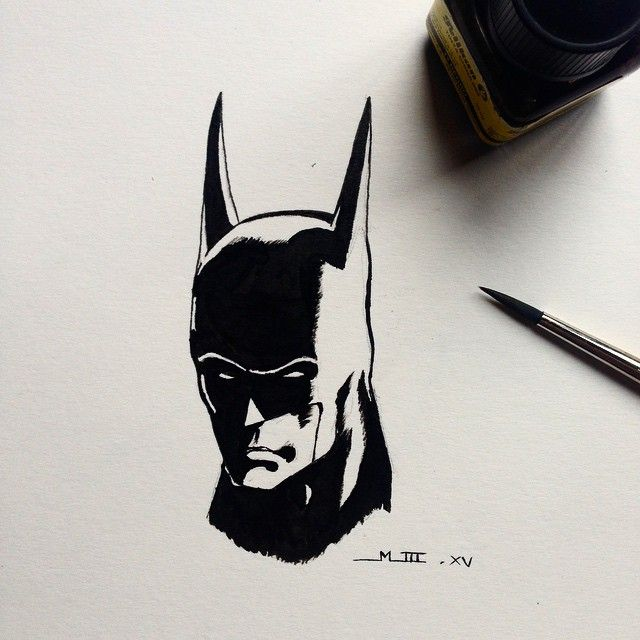 Batman. Tinta china.