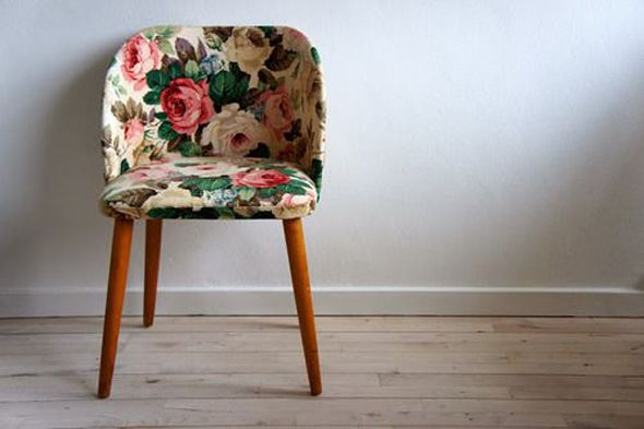 Florals on Vintage Furniture