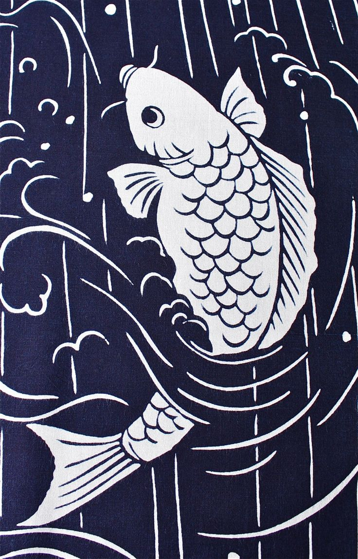Japanese pattern some kind of blue pinterest for Black and white koi for sale
