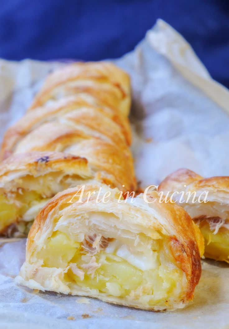 Treccia con patate e tonno ricetta facile e veloce vickyart arte in cucina