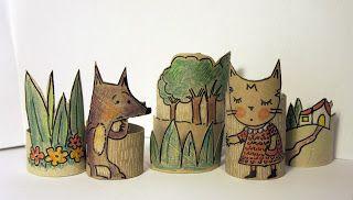 Canela, Miel y Limón: Dibujar en rollos de papel...¡puede ser adictivo!