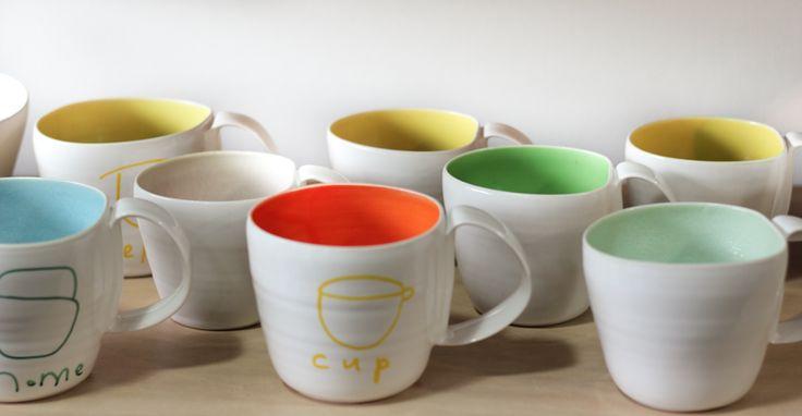 Amanda Shanley porcelain mugs  vessel.co.nz