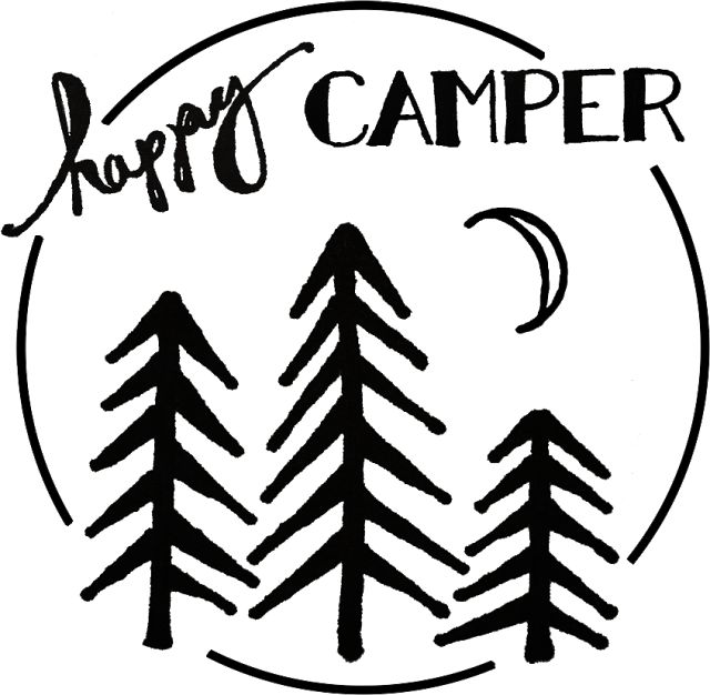EAT+SLEEP+MAKE: Happy Camper - Iron On Transfer T-Shirt Design
