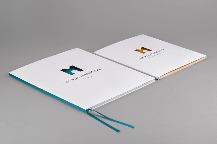 FRANCE Lou Magrin • Royal Mansour • Brochure • Rives Design / Curious Metallics / Curious Matter • Laser cutting / Screen printing / Hot foil stamping