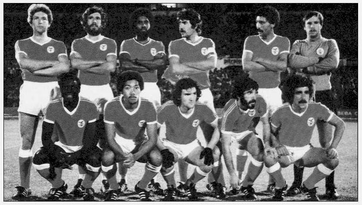 Benfica 2- Nacional de Montevideo - 0 (Humberto Coelho 44 e Reinaldo 67)