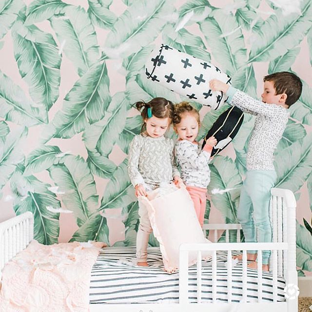 •• NEW!! Now you can shop our find the best deals on Sleep items, nursery updates (and this fun Palm print wallpaper!) every time you see that tiny heart in the corner of our pics ♥️ Download the LIKETOKNOW.IT app, Screenshot this pic and open your LTK app for direct links! (I'll do an IG video later too, I'm obsessed #shopaholic) - ALSO Our crazy good giveaway with @FinnandEmma ends today, check a few posts back to enter! - http://liketk.it/2sIff #liketkit @liketoknow.it #ltkhome #ltkfamily…