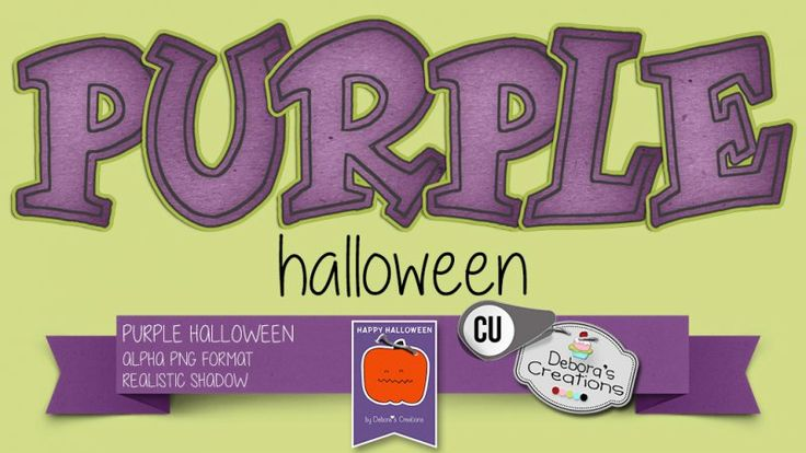 Purple Halloween by Debora's Creations (CU)