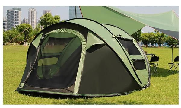 Camping made easy! No need to waste time finding bits & bobs, and setting up tent poles, the Insta Pop Up Camping Tent allows you to turn your site into a home in under a minute. This water & wind res