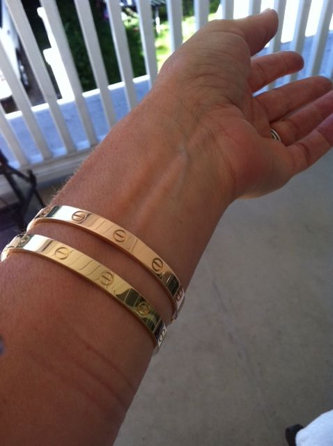 2e524f0a64581 yellow and pink gold Love bracelets by Cartier | I fall in love each ...