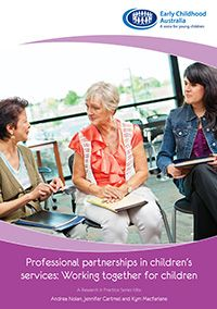 Professional partnerships in children's services: Working together for children looks at ways educators can work effectively with other professionals in building and leading these partnerships in children's services. It examines some of the issues surrounding working in partnership with others and the implications this has for understanding and enacting leadership.