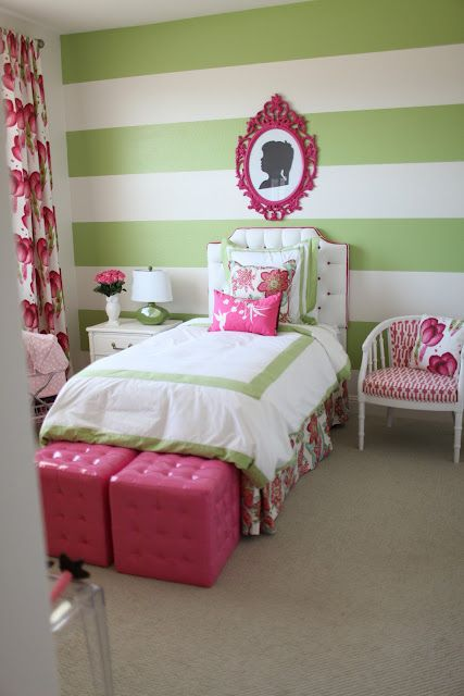 love the bold stripes for my daughters room