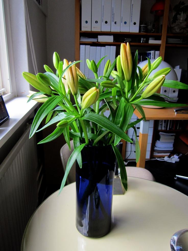 Kaj Franck blue vase Nuutajärvi