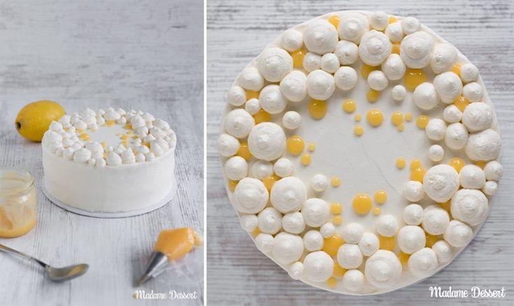 Fruchtige Zitronentorte mit Lemon Curd & Mango-Maracuja Füllung | Madame Dessert
