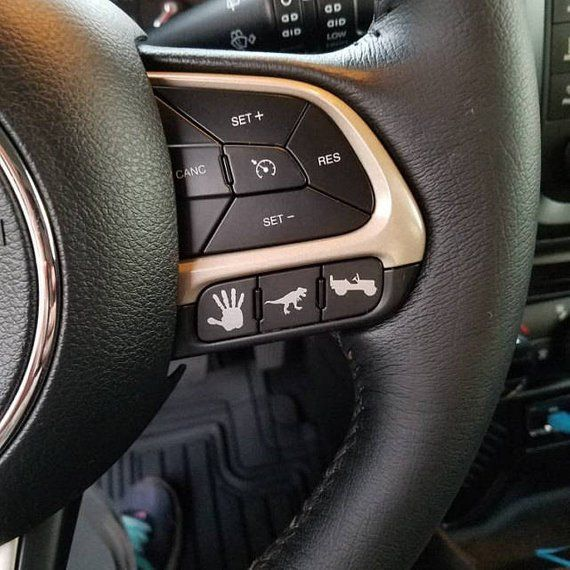 Jeep Easter Eggs Renegade Or Any Vehicle Blank Button Dash