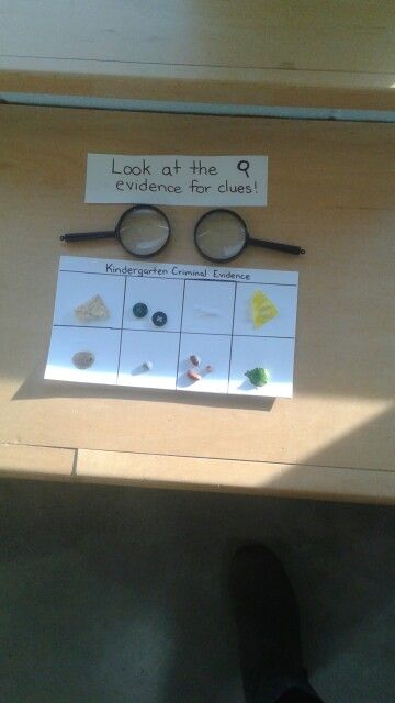 Dramatic Play: Police Station Evidence