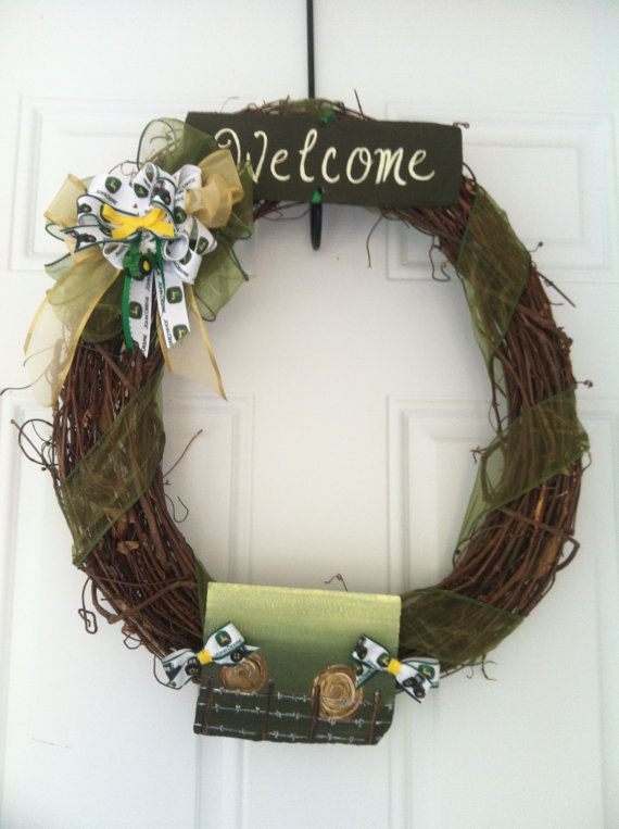 17 Best Images About Wreaths On Pinterest John Deere