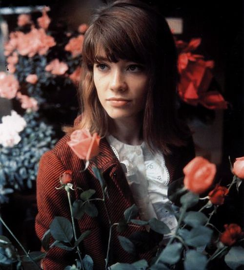 Francoise with flowers