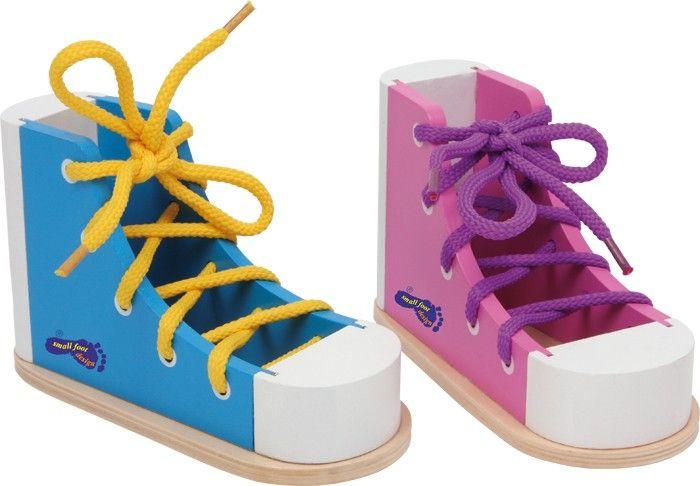 Zapato para ensartar, colorido - Motricidad y aprendizaje
