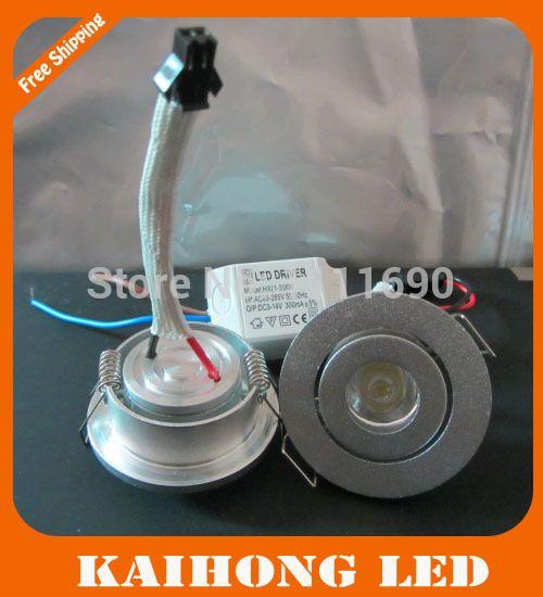 10pcs/lot mini 1W LED Downlight  silver shell ceiling Cupboard light 3W spot lights led lamp/downlights 110V 220V Counter lamps #Affiliate