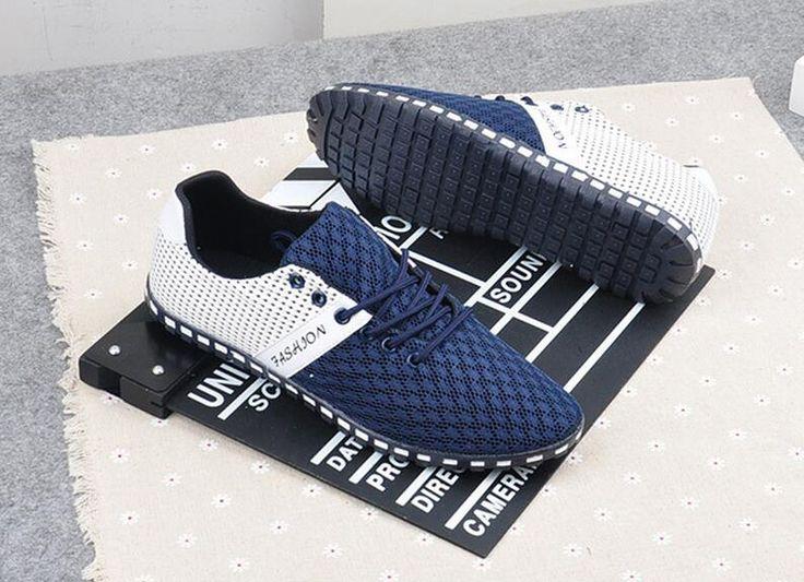 Men Shoes Fashion 2016 Summer Comfortable Men Casual Shoes Mesh Breathable Loafers Plus Size 39-47