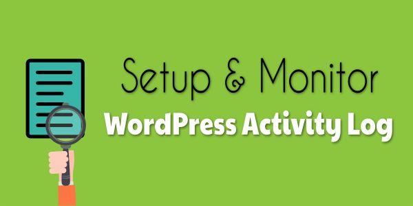 Setup and Monitor WordPress Activity Log