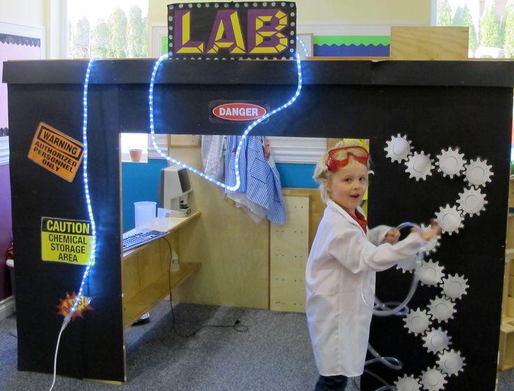 Een laboratorium: de speelhoek omtoveren tot uitvindershoek