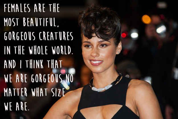 Alicia Keys.   29 Celebrities Who Will Actually Make You Feel Good About Your Body
