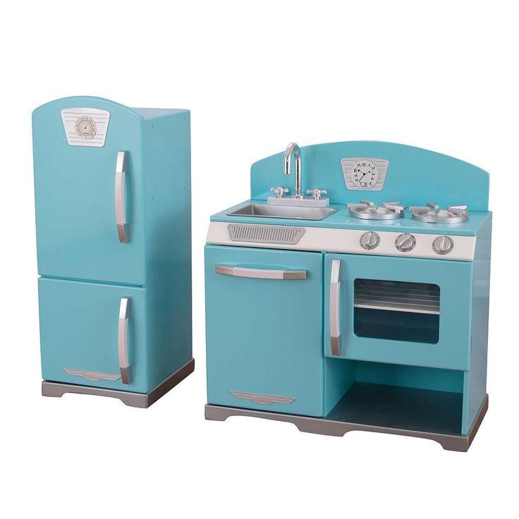 KidKraft Retro Kitchen & Refrigerator Play Set, Multicolor