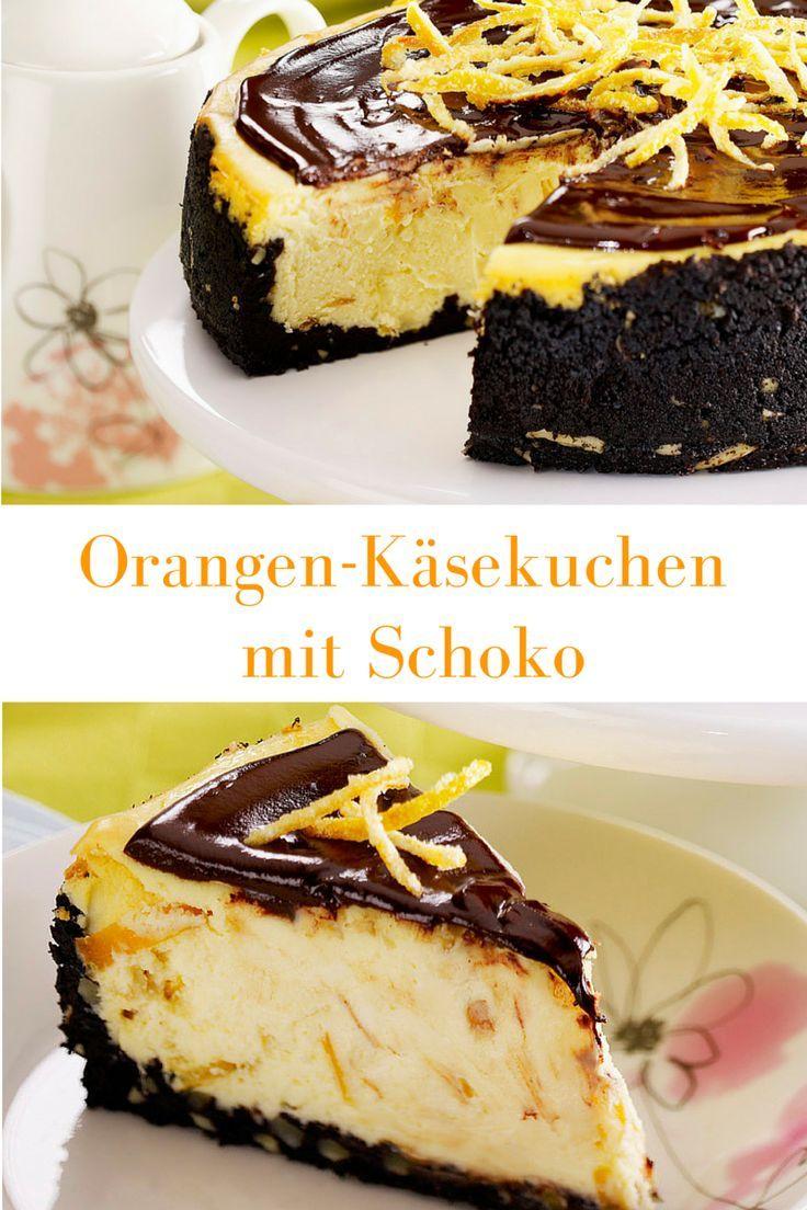 Süßer, weicher Biskuitboden aus Zartbitter Kuvertüre wird überdeckt von einer leicht süßen Creme aus Frischkäse und Orangen. Das Ganze wird umschlossen von purer Schokolade die sich als verführerische Glasur um den Kuchen legt.