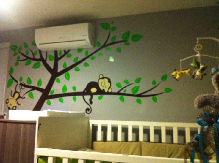 Decoraci n pared cuarto del bebe cuarto de bebe - Decoracion habitacion bebe ...