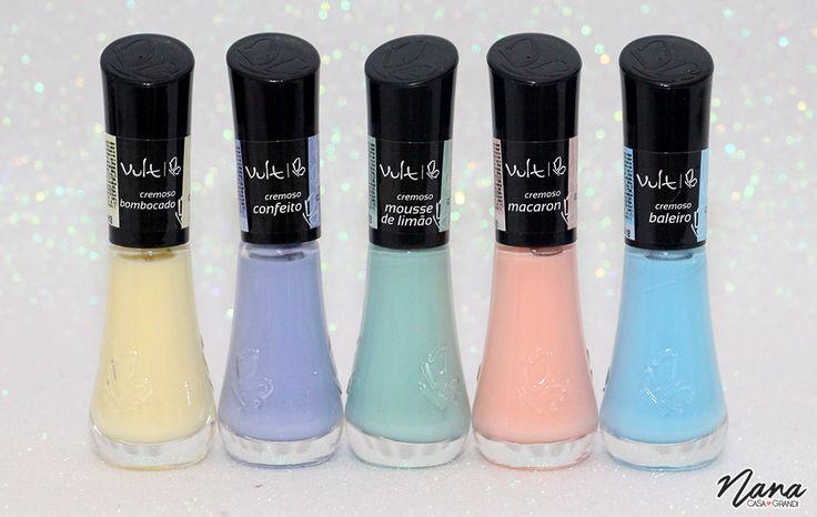Novas Cores Candy Colors de Esmaltes Vult.