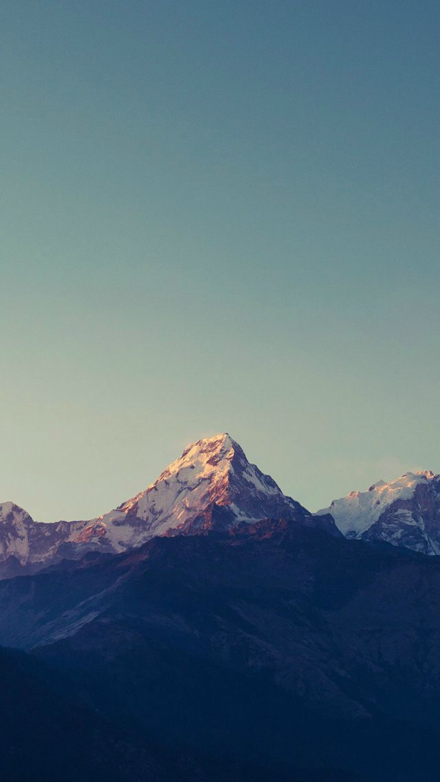 Mountain Blue High Sky Nature Rocky #iPhone #5s #wallpaper