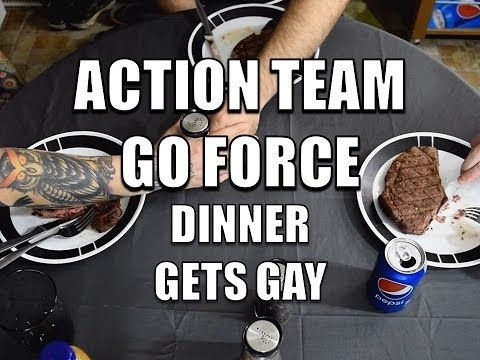 Action Team Go Force: Dinner Gets Gay  https://youtu.be/A5xL6zs3weo #ActionTeamGoForce  #SketchComedy #Comedy #Humor #Funny