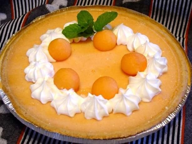 Cantaloupe Pie ~ I have tried this, and it is so very good.  It is a sweet creamy custard pie that is so refreshing.  It's perfect to serve on a hot Texas summer night!
