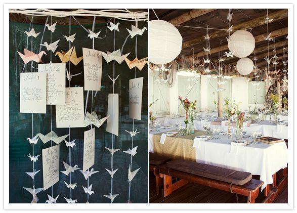 DIY (Faça você mesmo): Origamis fofos para decoração de casamento!
