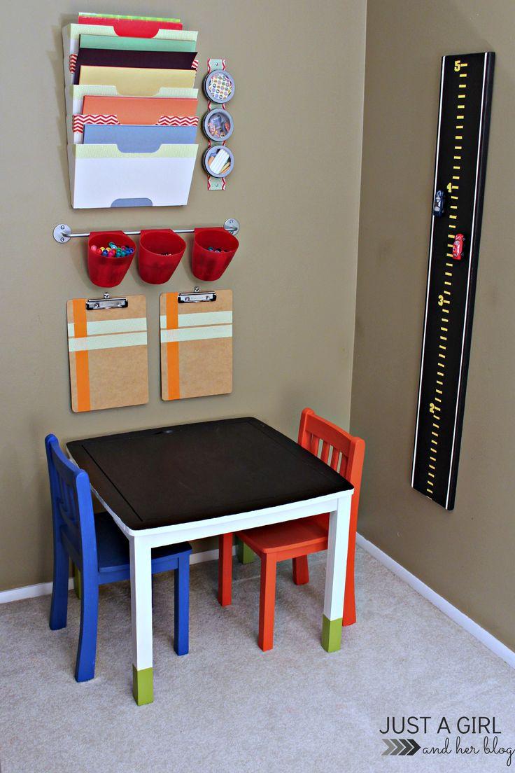 I love this kids' craft corner! Made with all Ikea stuff.