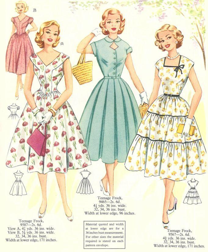 Australian Home Journal Summer Fashions 1955 Vintage Clothes Patterns 1950s Fashion Women 1950 Fashion