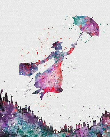 Watercolor - Mary Poppins