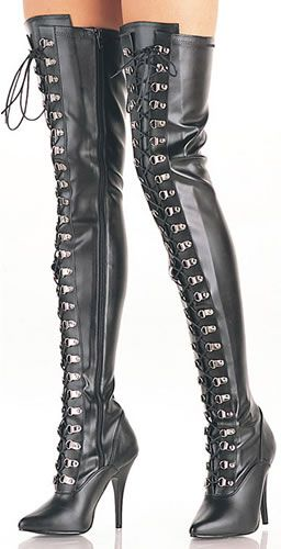 Now if these were made with flat heels I would love them. I always loved boots that were really high.