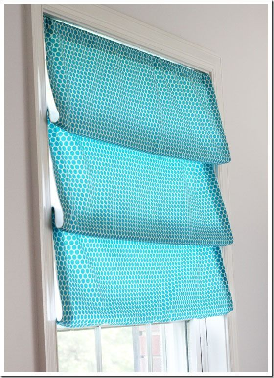 Easy to make No-Sew-Roman-Shade.  Great idea if you don't own a sewing machine!