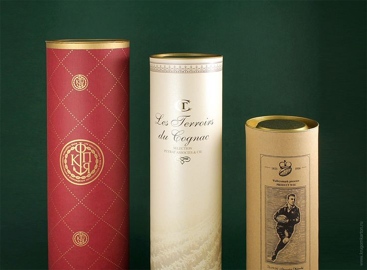 Упаковка тубус для алкоголя: бутылки вина, шампанского или коньяка. От производителя.