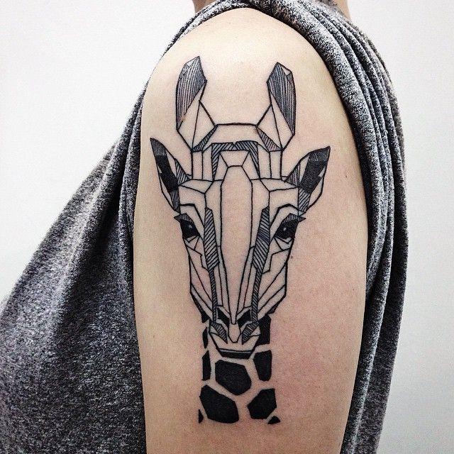 Geometric Tattoo 50 Elegant Giraffe Tattoo Meaning And