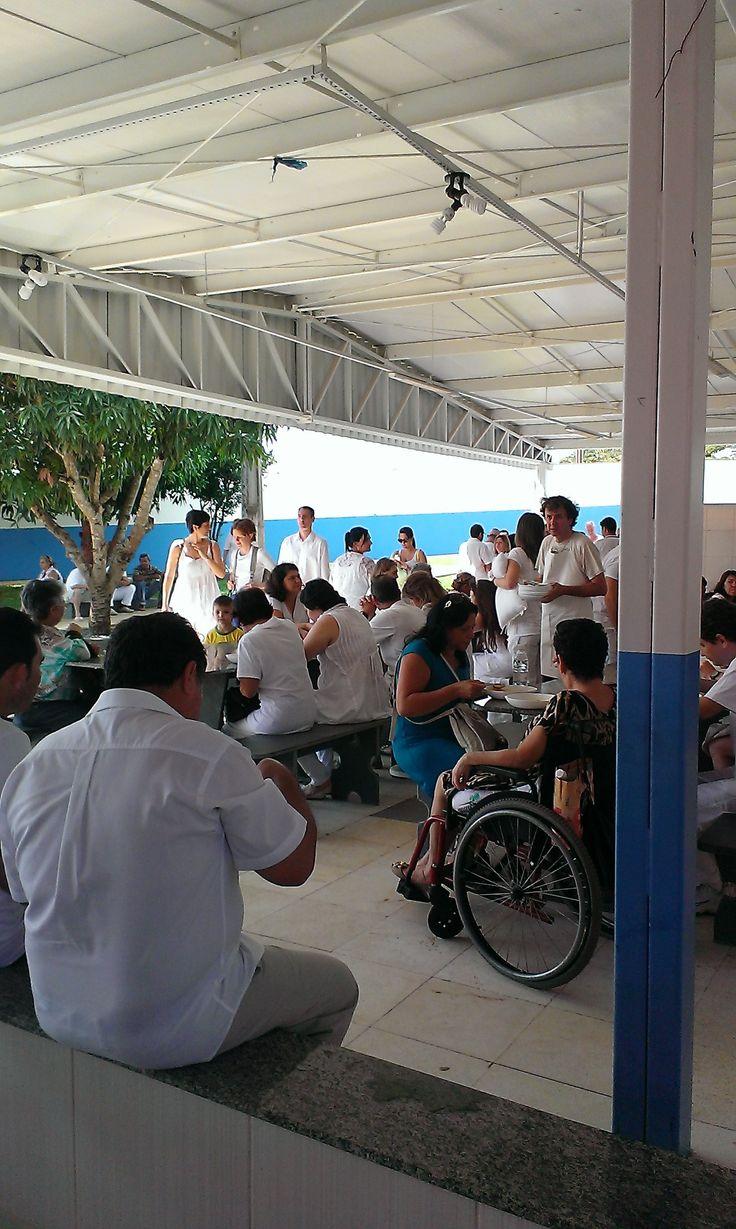 People enjoying the blessed healing soup at Casa de Dom Inacio  #JohnofGod #CasadeDomInacio #energyhealing #faithhealing #entities #healingsoup #blessedsoup