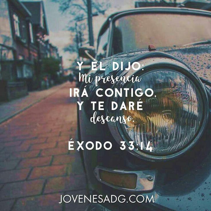 Éxodo 33:14 Y él dijo: Mi presencia irá contigo, y te daré descanso.