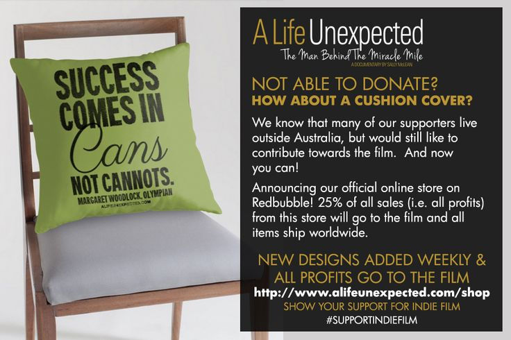 Donate To The Film | Franz Stampfl: A Life Unexpected - The Man Behind The Miracle Mile - Merchandise! http://www.alifeunexpected.com/donate